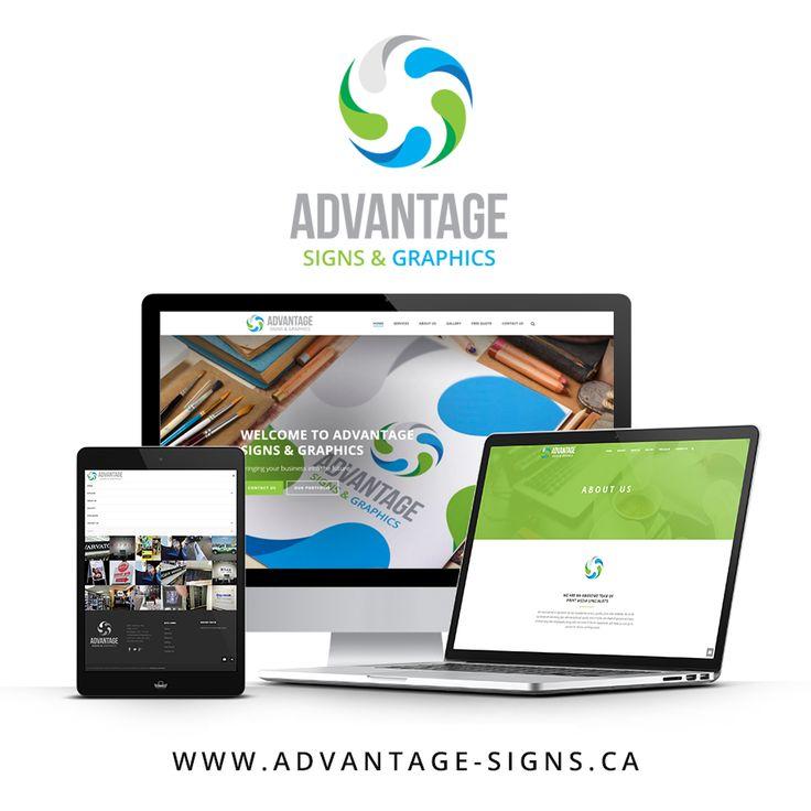 New website now live! www.advantage-signs.ca  #WebsiteDevelopment #LondonOntario