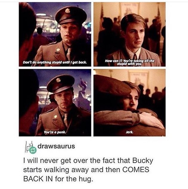 Steve Bucky The First Avenger
