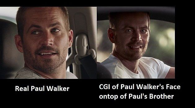 How Furious 7 used Digital Paul Walker Body Doubles and CGI with other Hollywood Movies which used the same trick