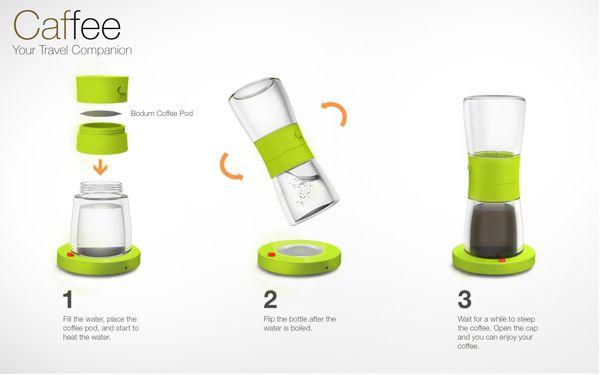 Caffee - Your Travel Companion by Wan Kee Lee, via Behance