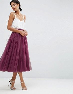 Tulle Prom Skirt with Multi Layers