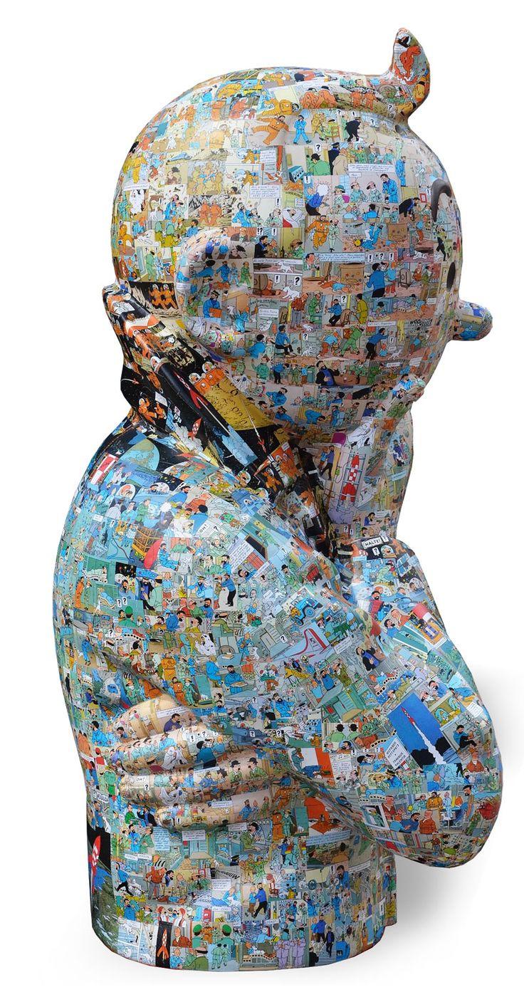 #artist Peppone #sculpture #Tintin