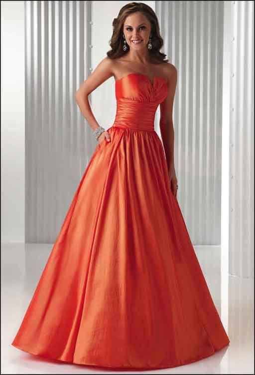 Orange Wedding Gown