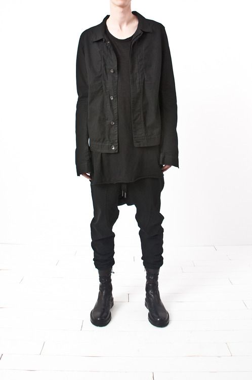 reportermontreal: drkshdw by rick owens - overdyed poplin...