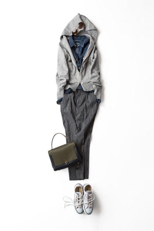 Kyoko Kikuchi's Closet | グレーパーカの新しいバランス