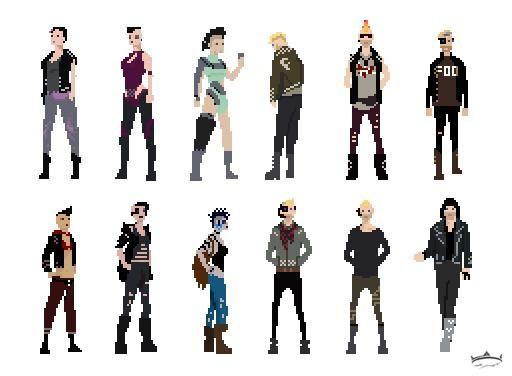 Pixel Art Character Design Tutorial : Pixelart character design sprites