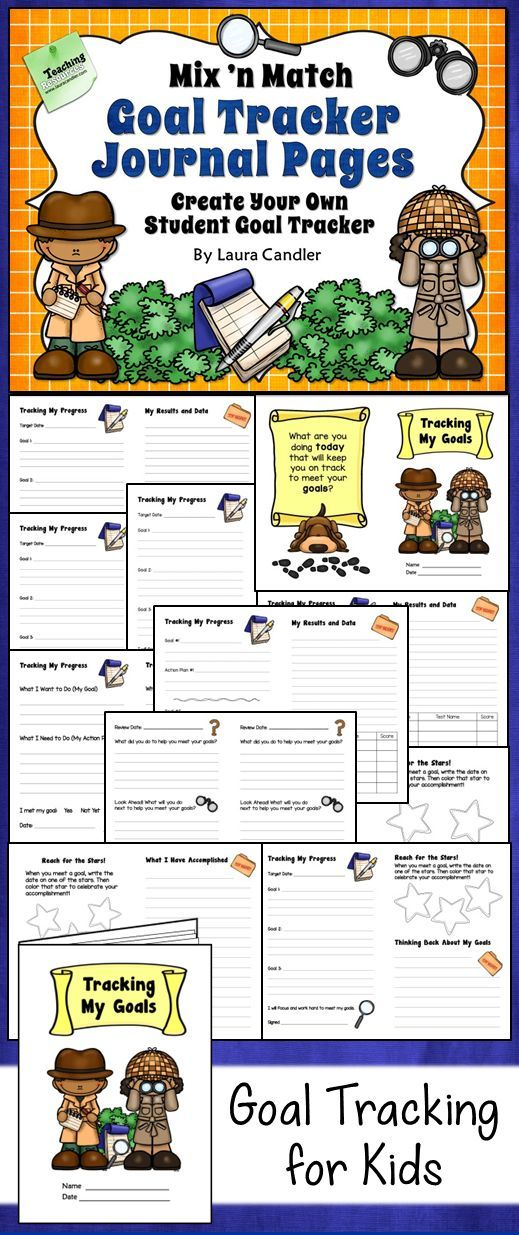 Awesome student journal for tracking goals and data! Includes 20 different page and cover options appropriate for elementary students.