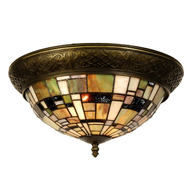 Falling Water Tiffany Flush Ceiling Light by Tiffany Lighting Direct