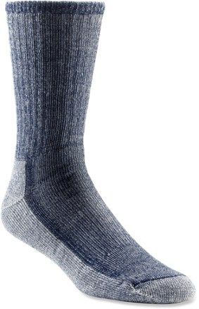 These no-itch merino wool SmartWool hiking socks maintain softness and shape through seasons of wear and washing. Available at REI, 100% Satisfaction Guaranteed.
