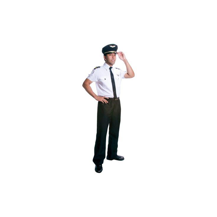 Halloween Men's Pilot Costume Medium, Multicolored
