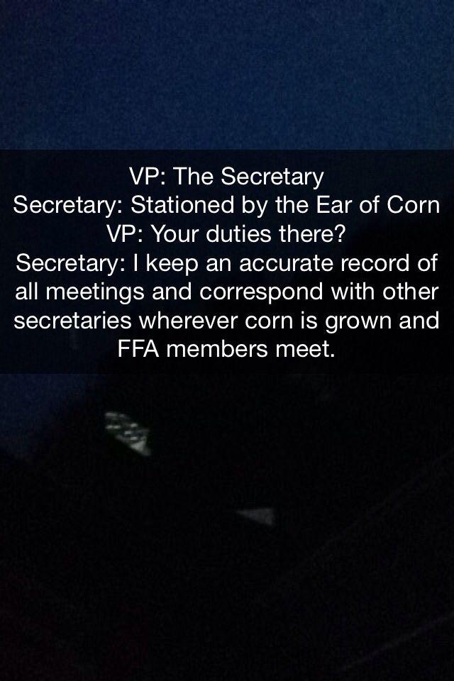 FFA Secretary Opening Ceremonies Lines