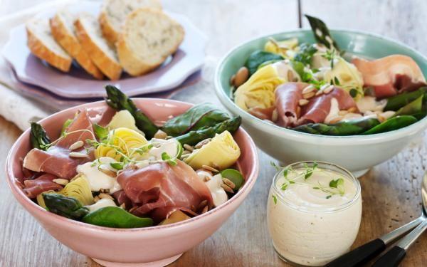 Oppskrift på aspargessalat med skinke, foto: Synøve Dreyer