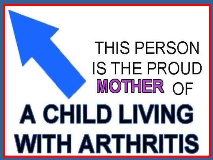Mother's with children with Juvenile Arthritis, please share