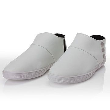 Mens Casual Business Flats Ankle Fashion Leather Shoes - US$25.64