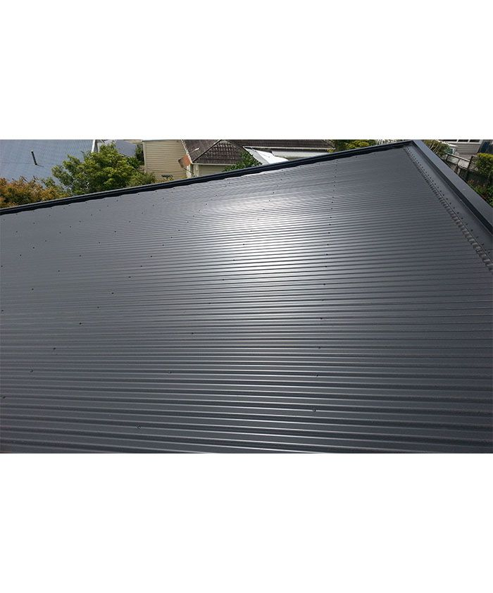 Love this dark coloursteel roof!
