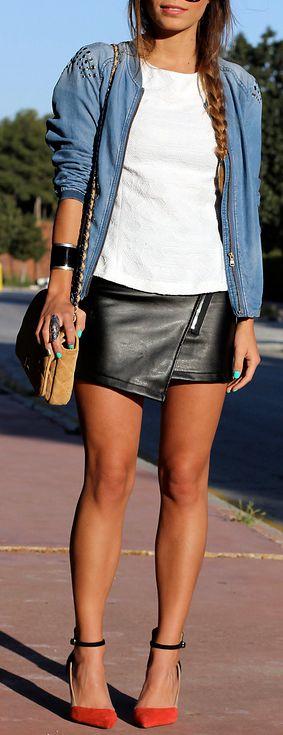 Abril 2013 minifalda de piel