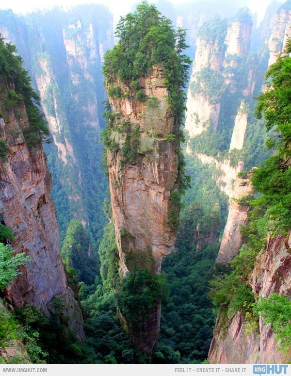 It's very close to my hometown! The Tianzi Mountains, China. I want to stand at the tip top and scream for everyone to hear