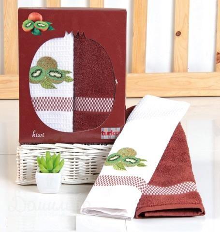 Набор полотенец с вышивкой КИВИ от Turkiz (Турция) - купить по низкой цене в интернет магазине Домильфо