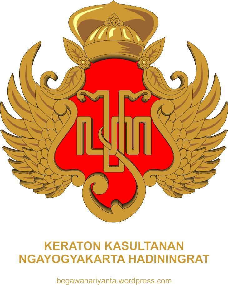 Lambang Keraton Yogyakarta. Lambang ini digunakan pada seluruh Abdi Dalem Perajurit Keraton Yogyakarta yaitu sebagai pin pada baju seragam dan sebagai pengunci ikat pinggang untuk perlengkapan seragam Perajurit.