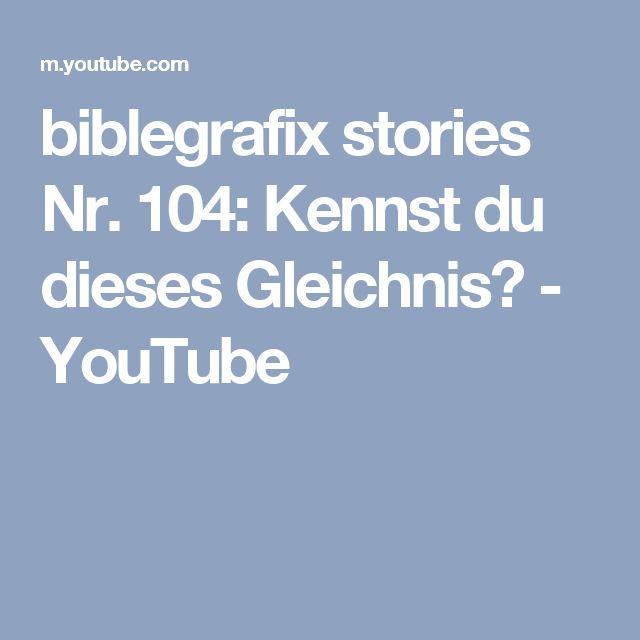 biblegrafix stories Nr. 104: Kennst du dieses Gleichnis? - YouTube
