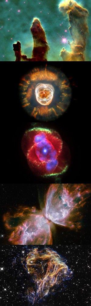 Cinque incredibili immagini dallo spazio raccolte dal telescopio Hubble