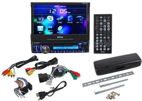 17 best images about electronics car electronics new boss bv9986bi 7 in dash dvd touchscreen flip out receiver usb