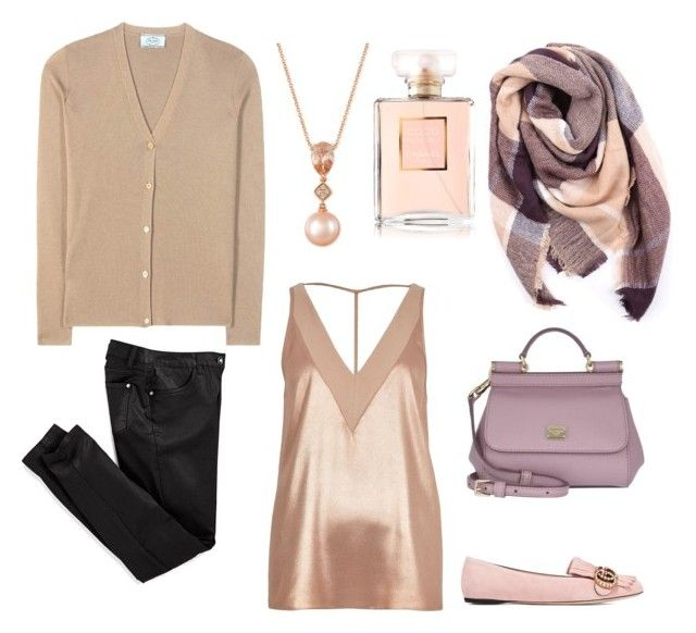 """Rose gold and mauve!!"" by giovanna-222 on Polyvore featuring Prada, Everest, River Island, Gucci, Dolce&Gabbana, LE VIAN and Chanel"