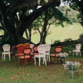 Vintage chairs velour Country style wedding Kiama Bushbank | Owl + Pussycat Events