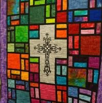 Quilting : Stained Glass Cross