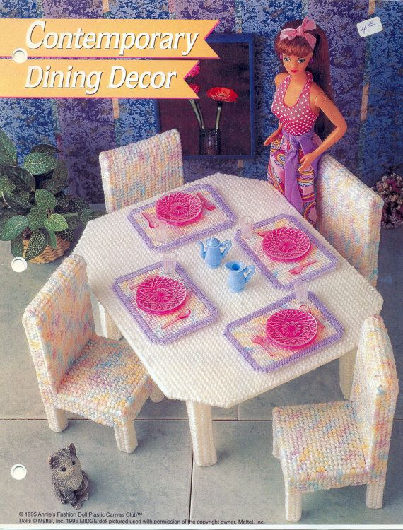 Plastic Canvas Pattern Fashion Doll Dining Decor Via Etsy Plastic Canvas Pinterest