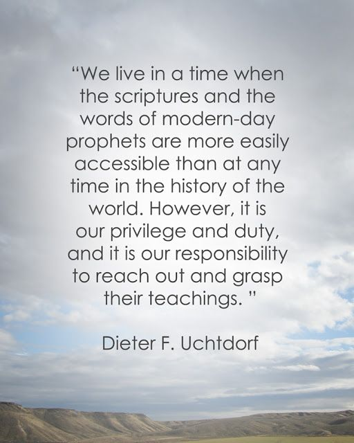 LDS Quote On Scriptures Study By Dieter F. Uchtdorf
