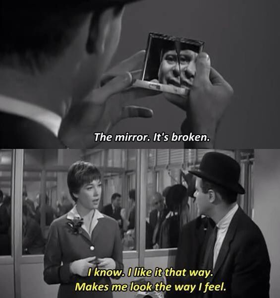 The mirror.