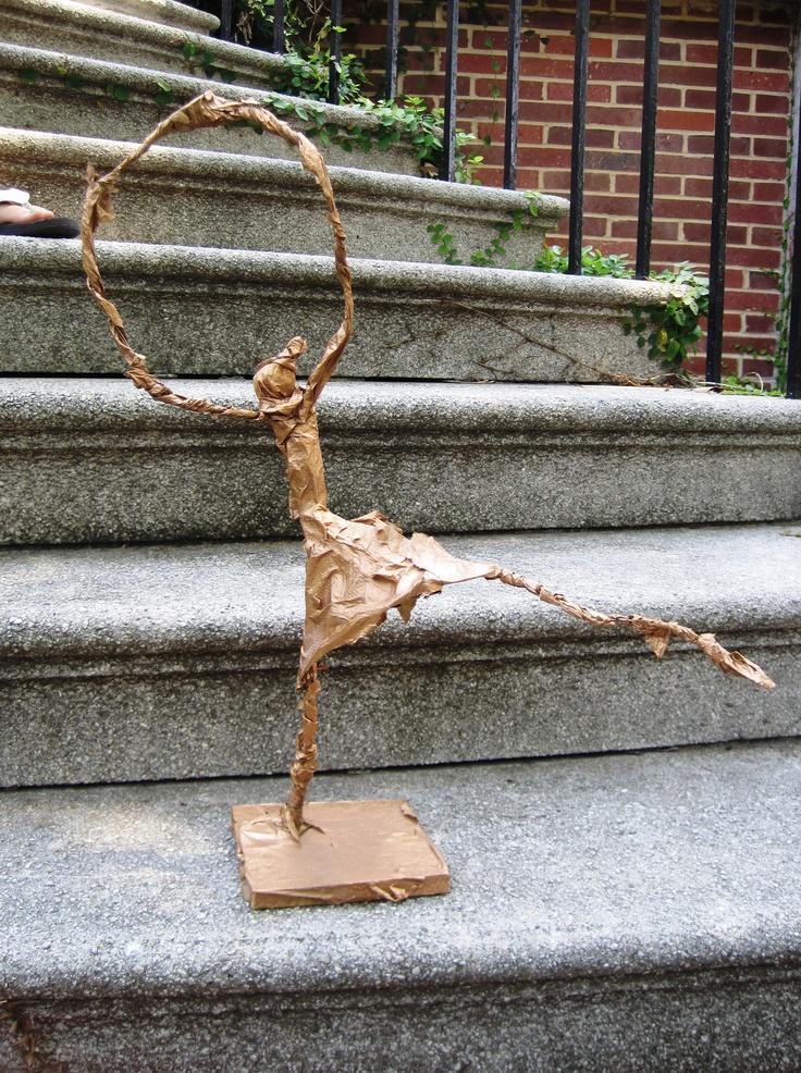 Alberto Giacometti wire and paper mache sculptures