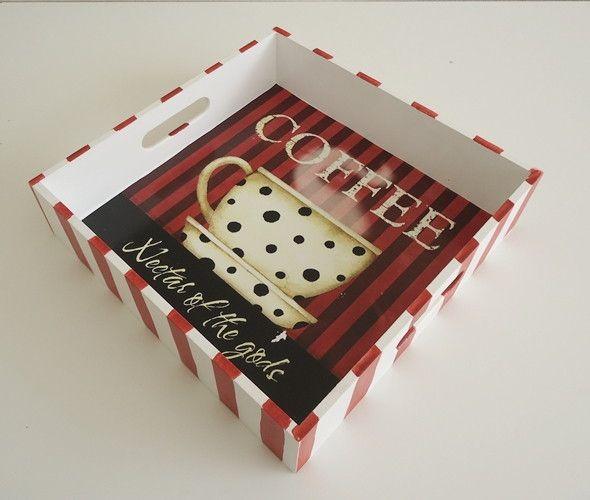 BANDEJA COFFEE   Arte DCasa - Presentes & Decorações   Elo7