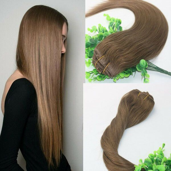 9A RUSSIAN 100g/120g Human Hair Weft Extensions 8#…