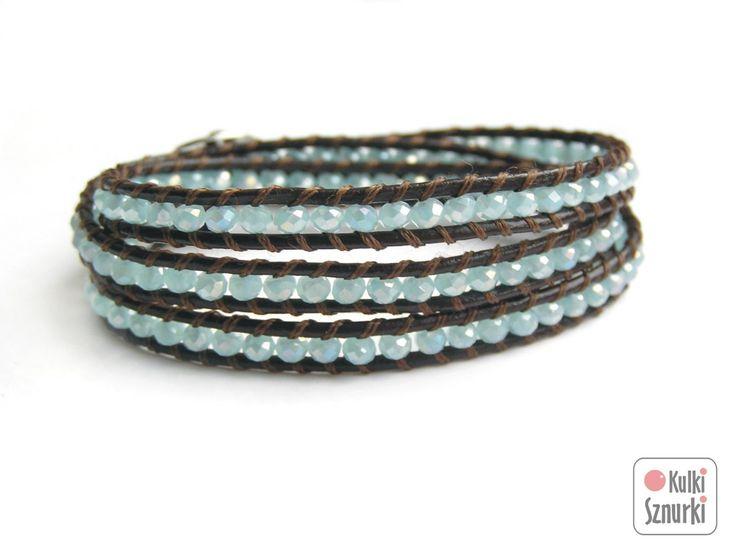 www.facebook.com/... Kulki Sznurki-biżutera personalizowana. Handmade jewellery. Wrap bracelets on leather #bracelet #bransoletka #mint #walentynki #valentinesday #prezenty