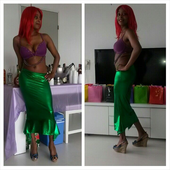 Costume party dressed like a mermaid