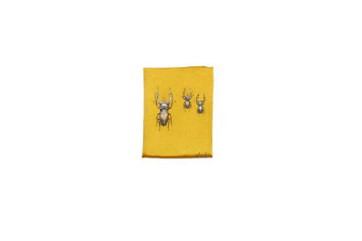 Silk pocket square handpainted