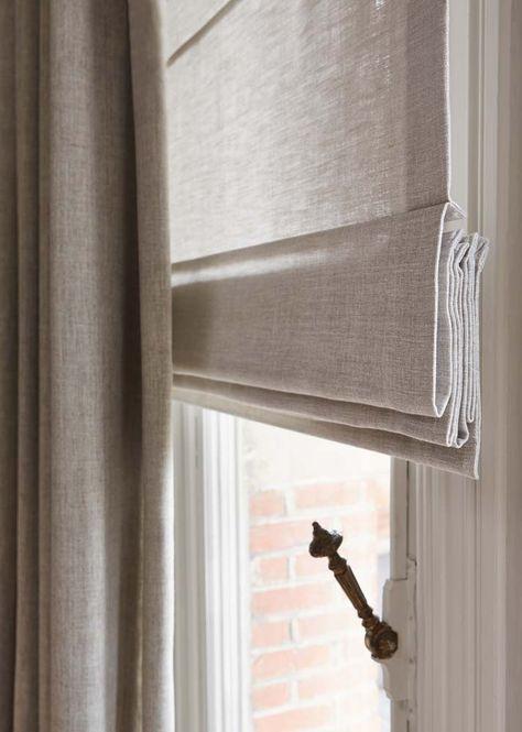 VOUWGORDIJN LINNEN - goede kleur - lichtgrijs/ beige - kies een lichtdoorlatende stof als vouwgordijn in linnenlook.