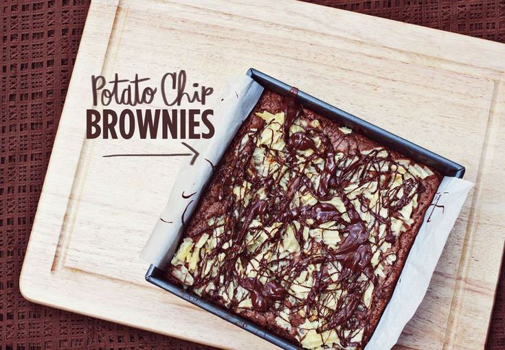 Potato chip brownies