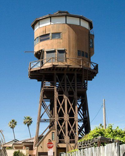 Water Tower Converted To A House (think Animaniacs