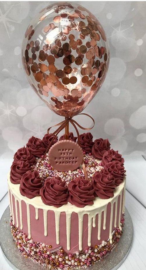 Geburtstagskuchen; Kuchen für Mädchen; Geburtstagstorte dekorieren; hausgemach…