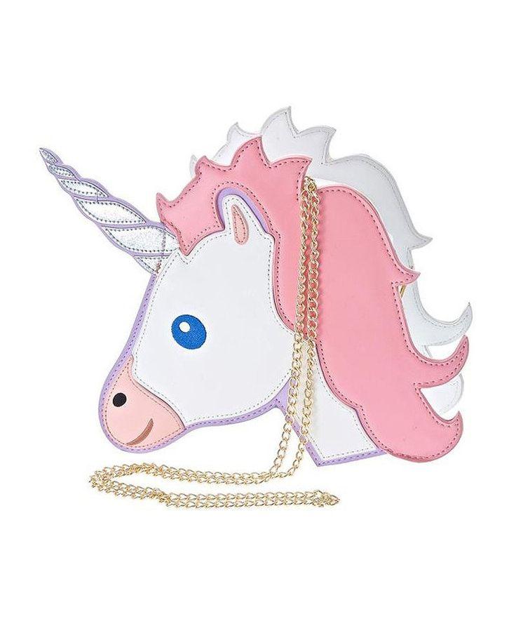 Unicorn Emoji Shoulder Messenger Bag (Pink)