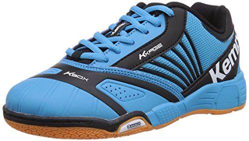 Kempa Hurricane Jr. Black & Sky, Chaussures de handball mixte enfant