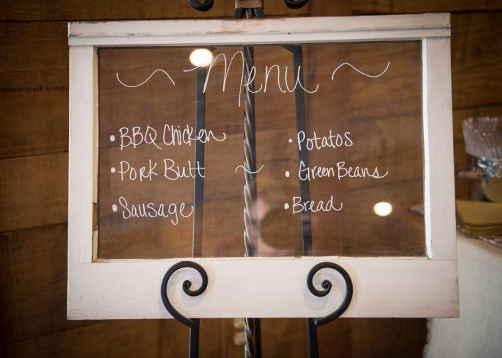 emerys_buffalo_creek_bellville, wedding menu, window pane menu, vintage window, wedding decoer