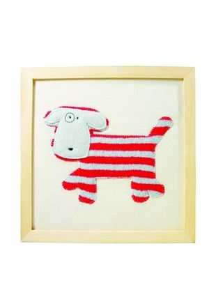 23% OFF Cate & Levi Dog Wall Art, Red/White
