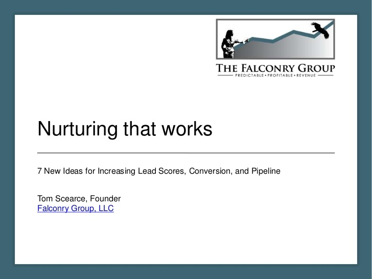 lead-nurturing-slideshare by The Falconry Group via Slideshare