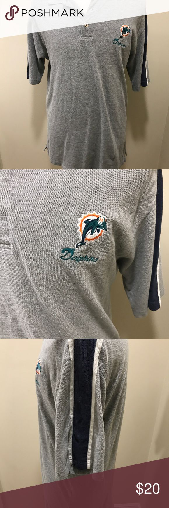 Men's NFL Miami Dolphins Polo Shirt Size Large Men's NFL Miami Dolphins Polo Shirt  Size Large NFL Shirts Polos