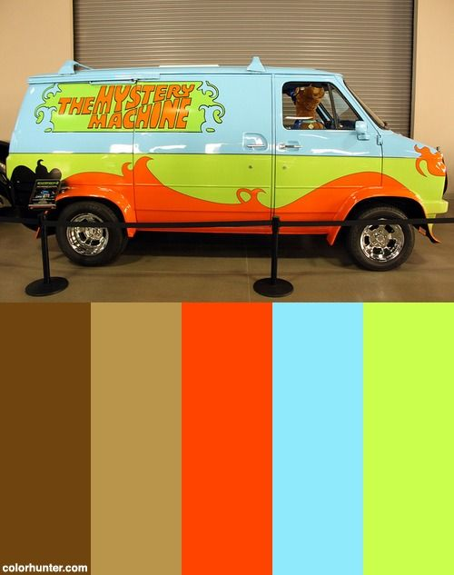 The Mystery Machine With Scooby Doo Color Scheme Color