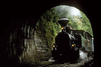 One of Europe's last steam trains (Mocanita de la Viseul de Sus) in the northern county of Maramures.